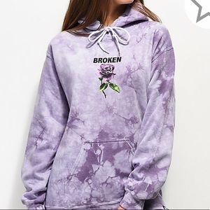 Zumiez Tops - Brand New Broken Promises Purple hoodie